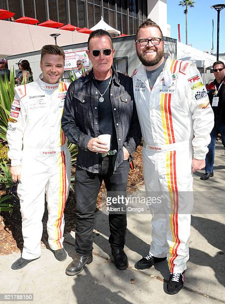 Actor Brett Davern grand marshall/actor Robert Patrick and TV personality Rutledge Wood at the 42nd Toyota Pro/Celebrity Race Race Day to Benefit...