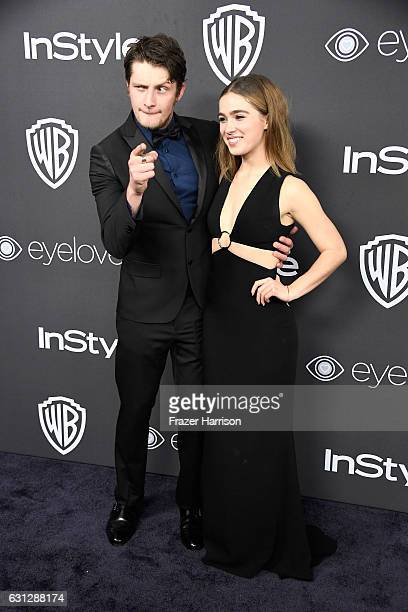Actor Brett Dier and Haley Lu Richardson attend the 18th Annual PostGolden Globes Party hosted by Warner Bros Pictures and InStyle at The Beverly...