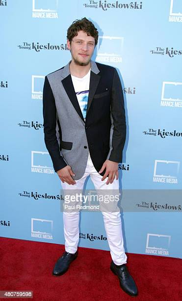 Actor Brett Dier attends the screening of Mance Media's 'The Young Kieslowski' at the Vista Theatre on July 14 2015 in Los Angeles California