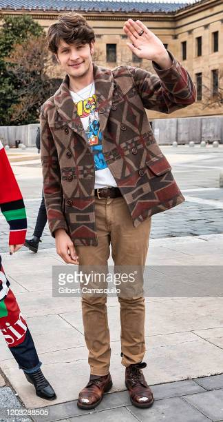 Actor Brett Dier of the ABCTV comedy show Schooled is seen at The Rocky Steps at The Philadelphia Museum of Art on January 31 2020 in Philadelphia...