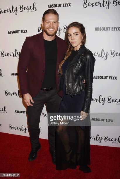 Actor Brett Zimmerman and actress Courtney Turk attend the Dorit Kemsley Hosts Preview Event For Beverly Beach By Dorit at the Trunk Club on October...