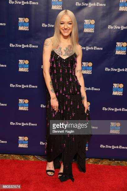 Actor Bria Vinaite attends the 2017 Gotham Awards sponsored by Greater Ft Lauderdale Tourism at Cipriani Wall Street on November 27 2017 in New York...