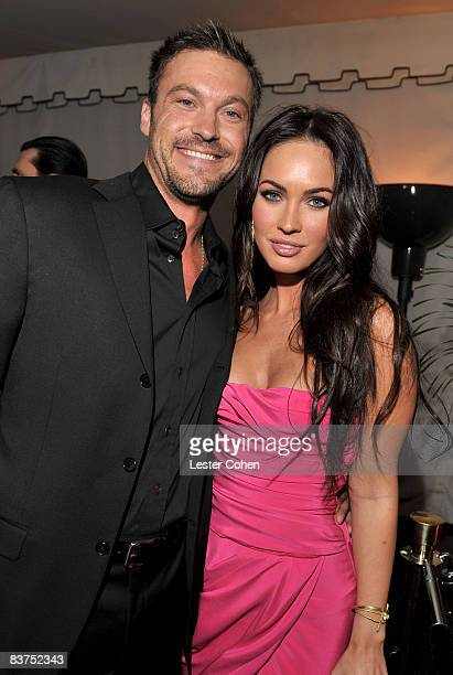 LOS ANGELES CA NOVEMBER 18 Actor Brian Austin Green and actress Megan Fox attend the GQ Men of the Year party held at the Chateau Marmont Hotel on...