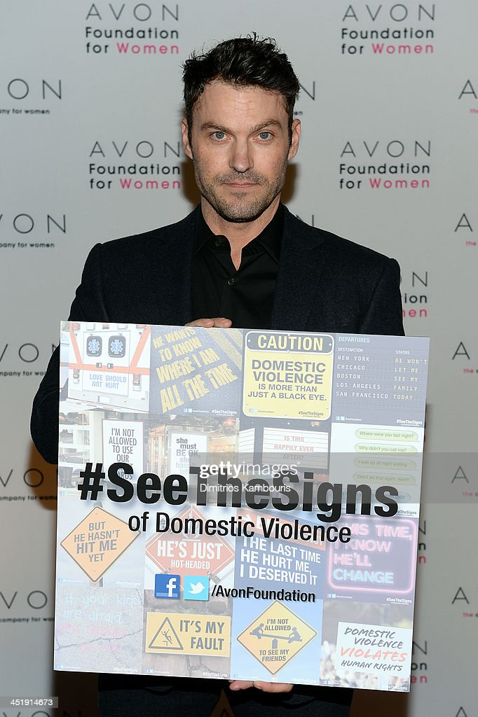 Actor Brian Austin Green at The Morgan Library & Museum in New York City at the Avon Foundation launch of its #SeeTheSigns of Domestic Violence global social media campaign.