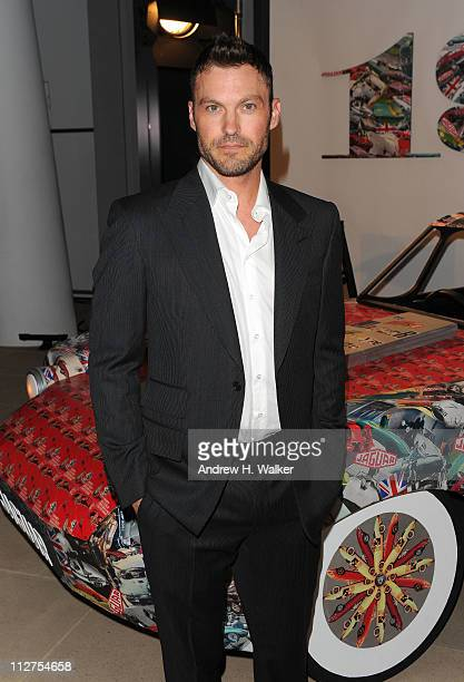 Actor Brian Austin Green attends the celebration of Jaguar Design and the 50th Anniversary of the Jaguar EType at The IAC Building on April 20 2011...