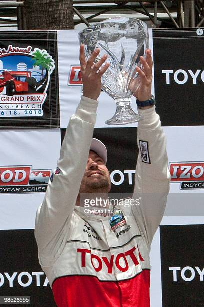 Actor Brian Austin Green in the winner's circle at the Toyota Grand Prix Pro / Celebrity Race Day on April 17 2010 in Long Beach California