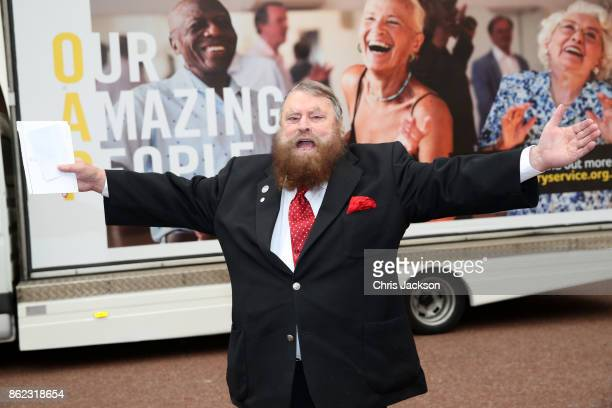 Actor Brian Blessed attends a reception hosted by The Duchess of Cornwall to celebrate the launch of the 'Our Amazing People' campaign at Clarence...
