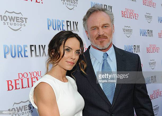 Actor Brian Bosworth attends the Premiere of Pure Flix's Do You Believe at ArcLight Hollywood on March 16 2015 in Hollywood California