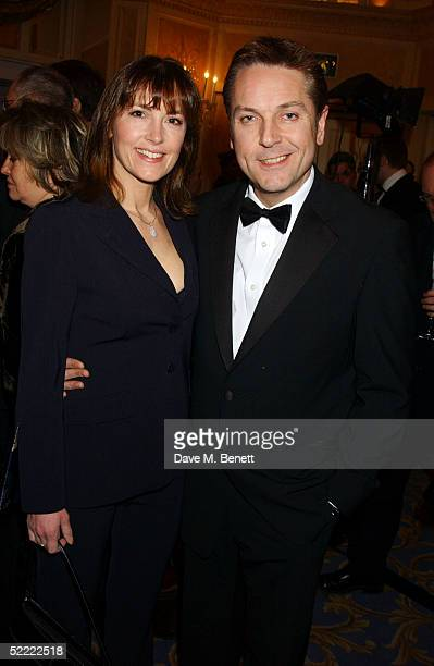 """Actor Brian Conley and wife Anne-Marie arrive for the """"Laurence Olivier Awards"""" at the London Hilton, Park Lane February 20, 2005 in London, England...."""