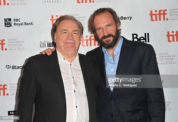 Actor Brian Cox and director/actor Ralph Fiennes attend Coriolanus Premiere at The Elgin during the 2011 Toronto International Film Festival on...