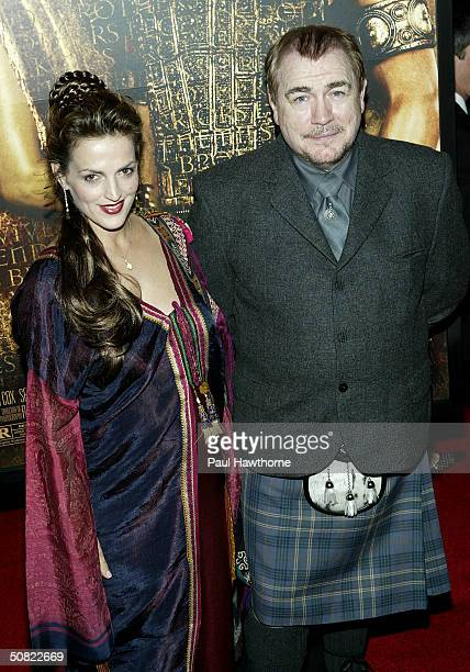 Actor Brian Cox and guest attend the New York Premiere of Troy at the Ziegfeld Theater May 10 2004 in New York City