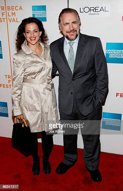 Actor Brian Cox and his wife actress Nicole AnsariCox attend the 8th Annual Tribeca Film Festival Tell Tale premiere at BMCC Tribeca PAC on April 24...
