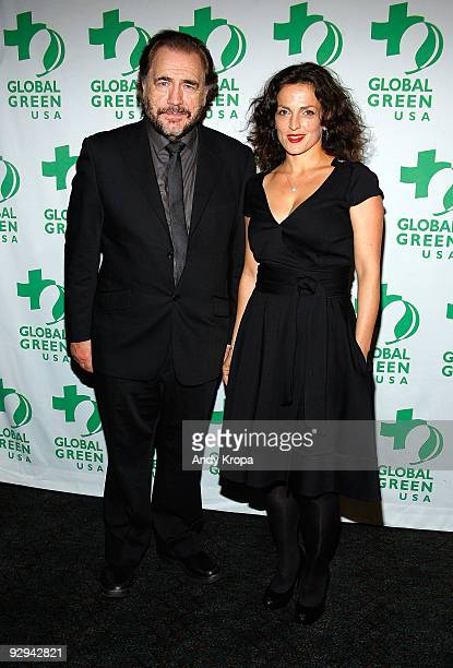 Actor Brian Cox and his wife Nicole AnsariCox attend the 10th annual Global Green USA Sustainable Design Awards at The Lighthouse at Chelsea Piers on...