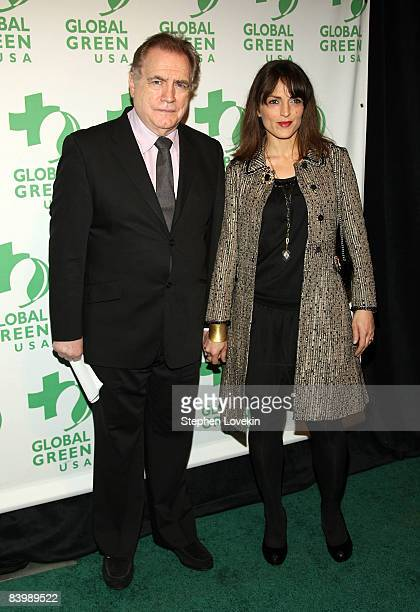 Actor Brian Cox and wife Nicole Ansari attend the 9th annual Global Green Sustainable Design awards at Pier Sixty at Chelsea Piers on December 10...