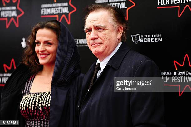 Actor Brian Cox and wife Nicole Ansari attend the red carpet gala for the film Stone of Destiny on day four of the Edinburgh International Film...