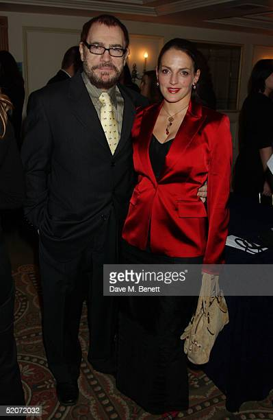 Actor Brian Cox and wife Nicole Ansari attend the South Bank Show Awards at The Savoy on January 27 2005 in London The annual awards recognise...