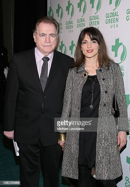 Actor Brian Cox and wife Nicole Ansari-Cox attend the 9th annual Global Green Sustainable Design awards at Pier Sixty at Chelsea Piers on December...