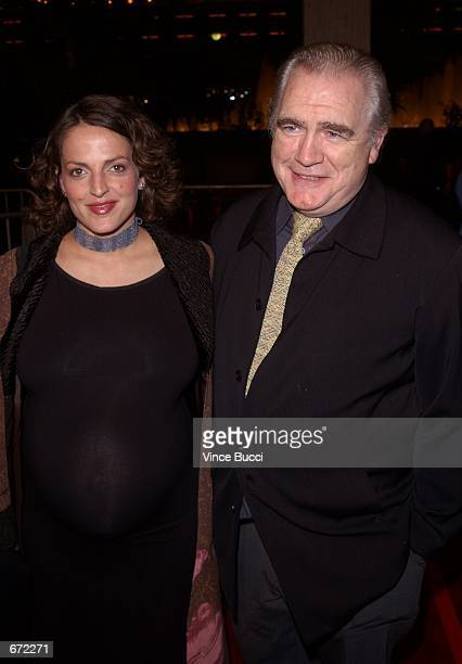 Actor Brian Cox and wife Nicole attend the premiere of the film The Affair of the Necklace November 20 2001 in Los Angeles CA