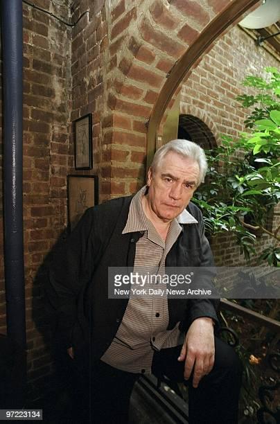 Actor Brian Cox at the Joe Allen restaurant on W 46th St