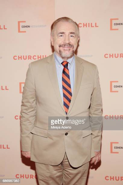"Actor Brian Cox attends the ""Churchill"" New York premiere at the Whitby Hotel on May 22, 2017 in New York City."
