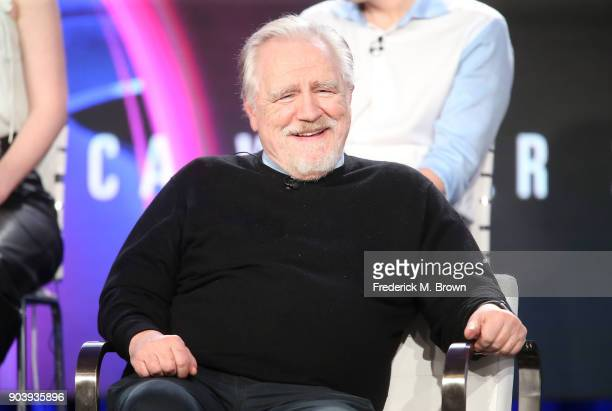 Actor Brian Cox of the television show Succession speaks onstage during the HBO portion of the 2018 Winter Television Critics Association Press Tour...