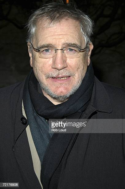 Actor Brian Cox poses at the OffBroadway opening after party of My Name Is Rachel Corrie at Bowery Bar October 15 2006 in New York City