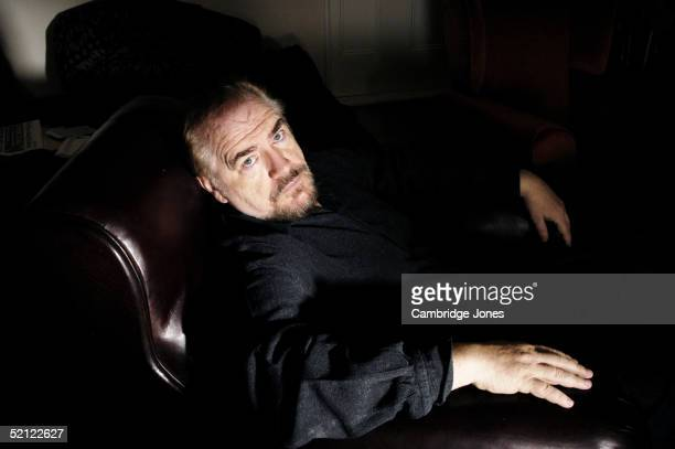 Actor Brian Cox poses during a photoshoot at his home in London England on the 29th of July 2004