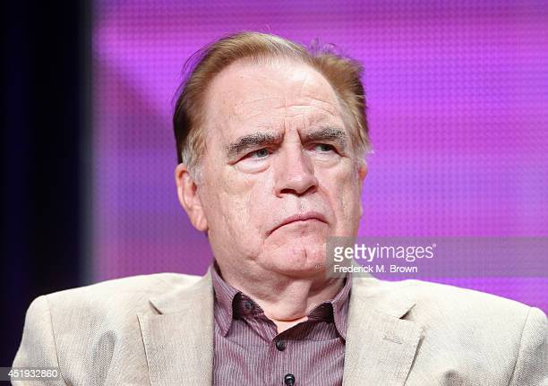 Actor Brian Cox speaks onstage at the The Game panel during the BBC America portion of the 2014 Summer Television Critics Association at The Beverly...