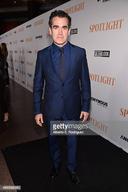 "Actor Brian d'Arcy James attends a special screening of Open Road Films' ""Spotlight"" at The DGA Theater on November 3, 2015 in Los Angeles,..."