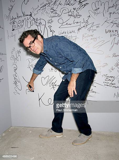 Actor Brian d'Arcy James attends AOL Build speaker series at AOL Studios In New York on September 18, 2015 in New York City.