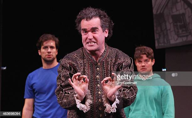 Actor Brian d'Arcy James attends the Broadway's Something Rotten preview performance at Little Shubert Theatre on February 17 2015 in New York City