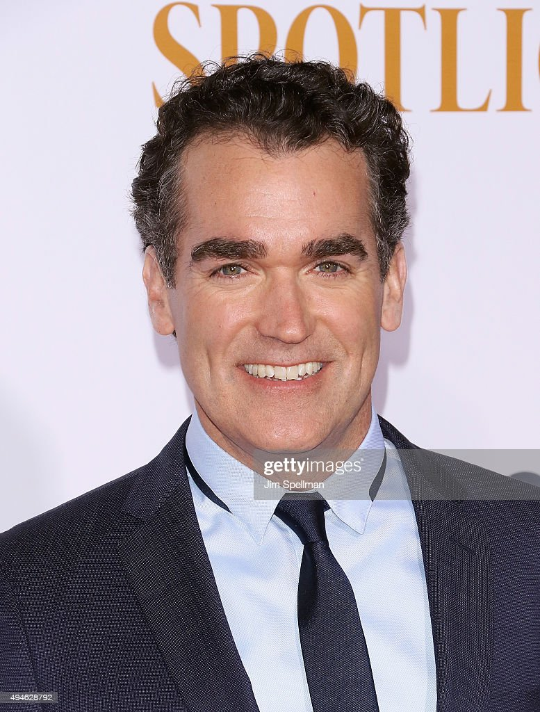 Actor Brian d'Arcy James attends the 'Spotlight' New York premiere at Ziegfeld Theater on October 27, 2015 in New York City.