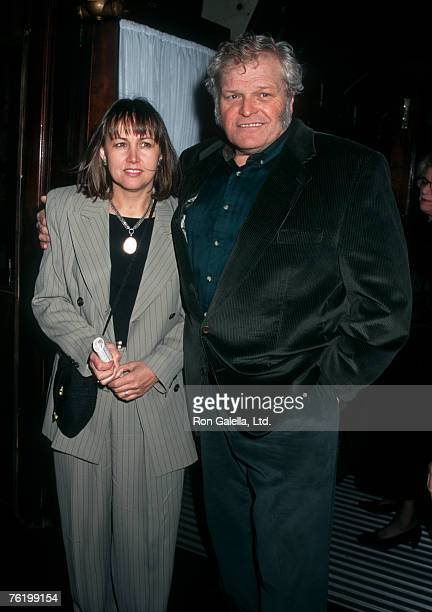 "Actor Brian Dennehy and wife Jennifer Arnott attending the opening night of ""Translations"" on March 19, 1995 at the Plymouth Theater in New York..."