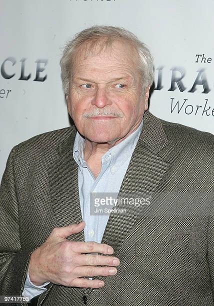Actor Brian Dennehy attends the Broadway opening of The Miracle Worker at the Circle in the Square Theatre on March 3 2010 in New York City