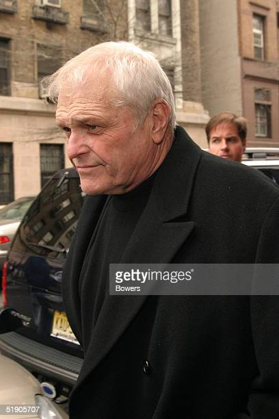 Actor Brian Dennehy attends the funeral for Jerry Orbach at Riverside Chapel December 31 2004 in New York City