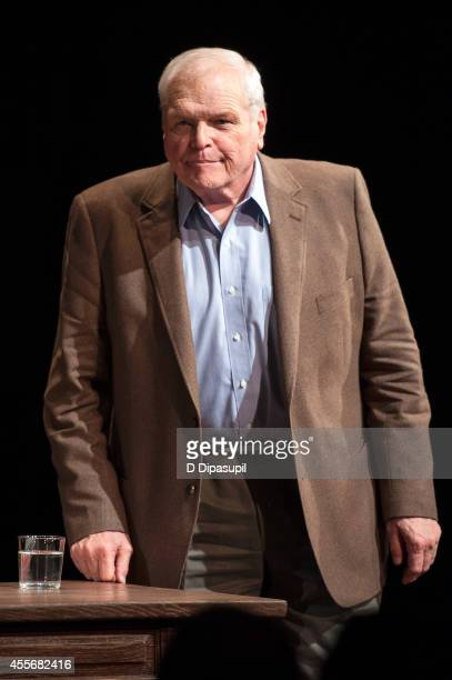 "Actor Brian Dennehy takes his curtain call during ""Love Letters"" Broadway Opening Night at The Brooks Atkinson Theatre on September 18, 2014 in New..."