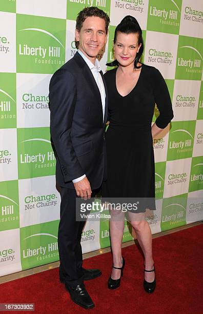 Actor Brian Dietzen and actress Pauley Perrette attend Liberty Hill's Upton Sinclair Awards Dinner Honors Arrivals at The Beverly Hilton Hotel on...
