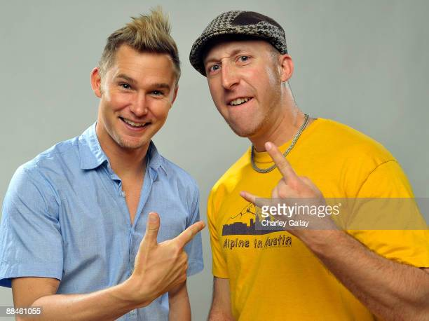 Actor Brian Geraghty and writer Davy Rothbart of the film Easier with Practice pose for a portrait during the 11th annual CineVegas film festival...