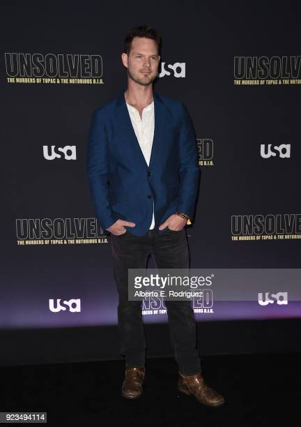 Actor Brian Guest attends the premiere of USA Network's 'Unsolved The Murders of Tupac and The Notorious BIG at Avalon on February 22 2018 in...