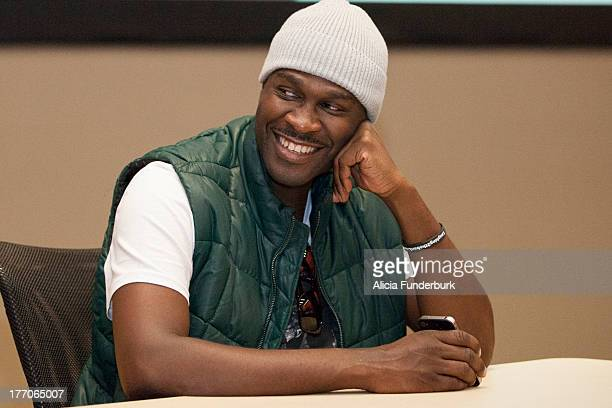 Actor Brian Hooks attends the Laughing To The Bank movie promo visit at North Carolina Agricultural Technical State University on August 20 2013 in...