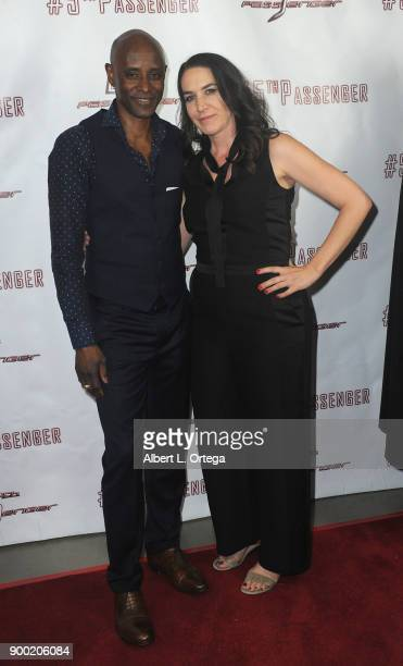 Actor Brian Keith Gamble and actress Morgan Lariah arrive for the Cast And Crew Screening Of 5th Passenger held at TCL Chinese 6 Theatres on December...