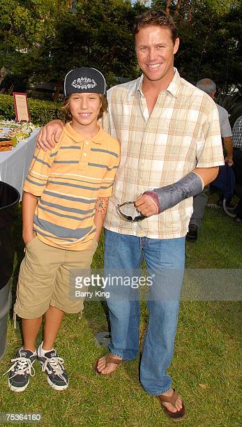Actor Brian Krause and son Jamen Krause attend the Los Angeles Philharmonic and Venice Magazine Annual Picnic and Concert held at the Hollywood Bowl...