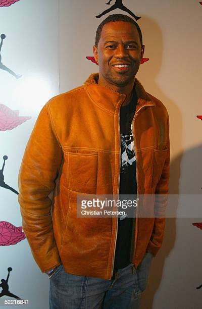 Actor Brian McKnight arrives at the Air Jordan XX Launch Party at Rise Nightclub on February 18 2005 in Denver Colorado