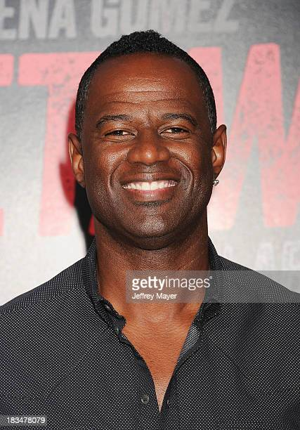 Actor Brian McKnight arrives at the 'Getaway' Los Angeles Premiere at Regency Village Theatre on August 26 2013 in Westwood California