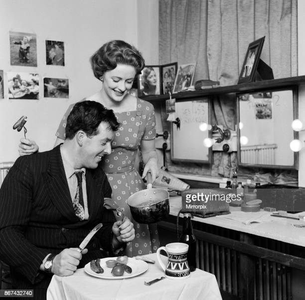 Actor Brian Rix and his wife actress Elspet Gray 1st February 1957