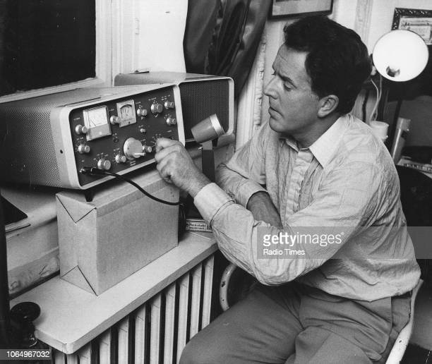 Actor Brian Rix pictured operating a ham radio photographed for Radio Times in connection with the magazine's 'A Star with a Hobby' feature October...