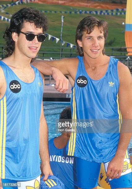 Actor Brian Robbins and actor Rob Stone attend the Television Competition Special 'Battle of the Network Stars XIX' on August 27 1988 at Pepperdine...