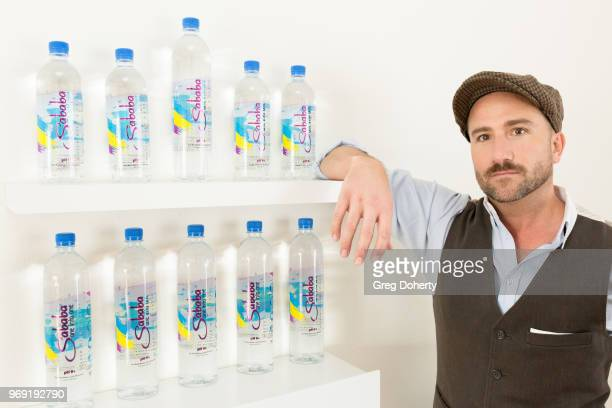 Actor Brian Rodda showcases Sababa Water at the Giveback Day at TAP The Artists Project on June 6 2018 in Los Angeles California