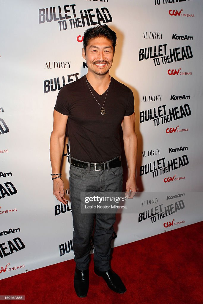 Actor Brian Tee attends 'Bullet To The Head' screening at CGV Cinemas on January 31, 2013 in Los Angeles, California.