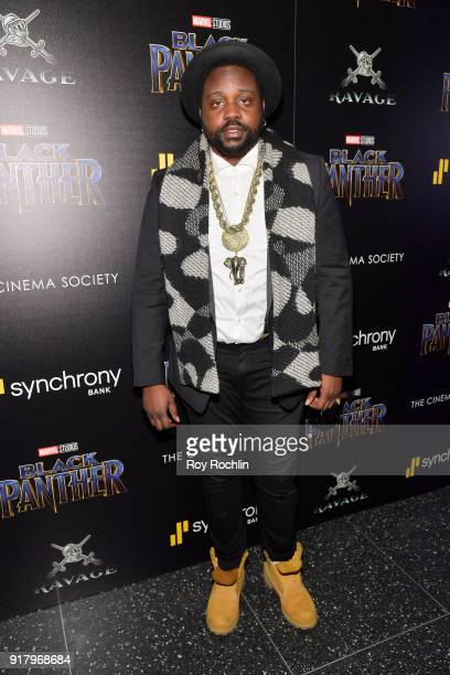Actor Brian Tyree Henry attends the screening of Marvel Studios' 'Black Panther' hosted by The Cinema Society on February 13 2018 in New York City